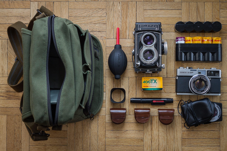 Romain Degres' Camera Bag