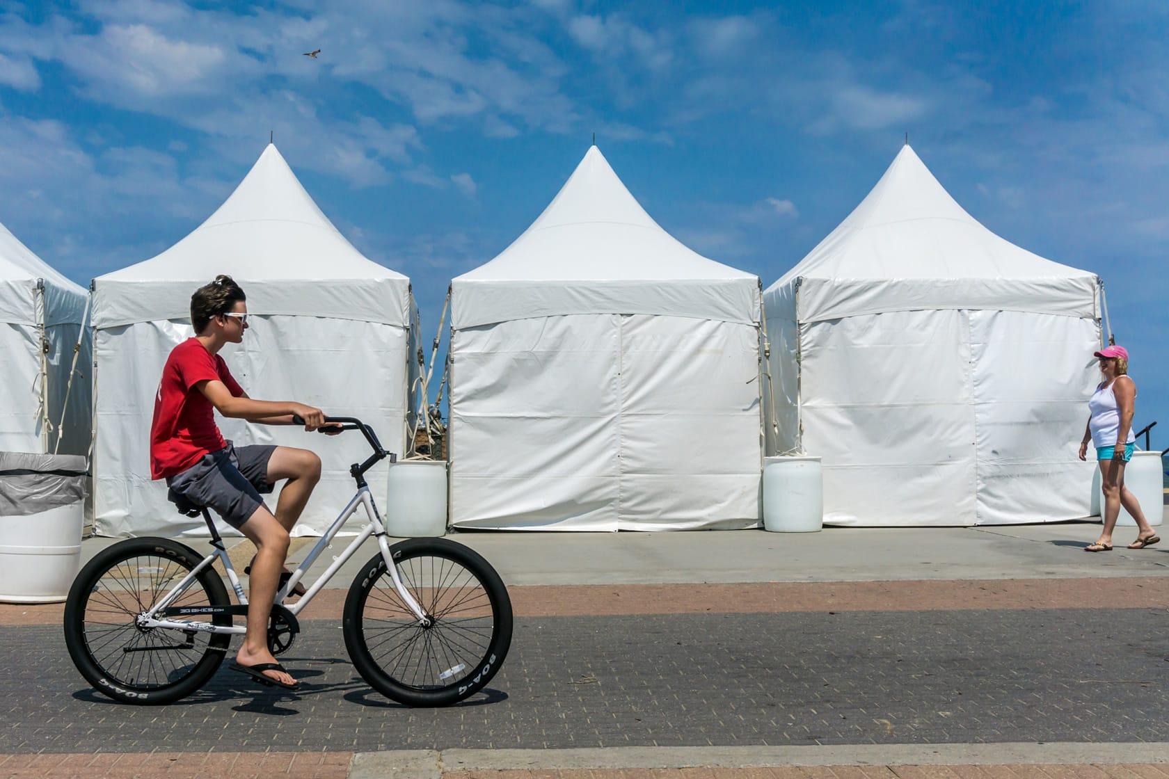 'Boardwalk Biker' by Michael Schmitt