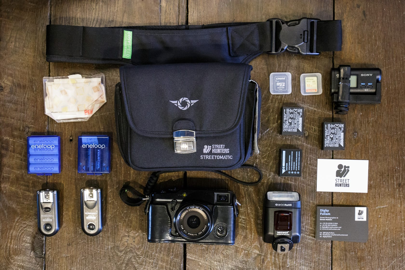 Digby Fullam's mirrorless street hunt camera bag