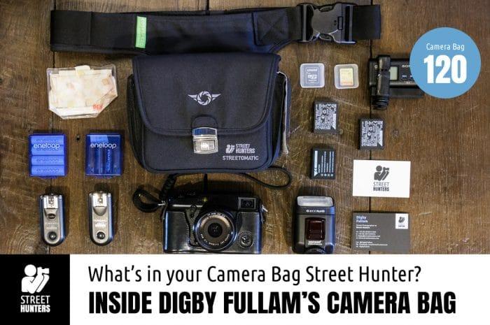 Inside Digby Fullam's Camera bag