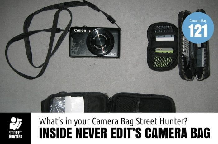Inside Never Edit's Camera Bag