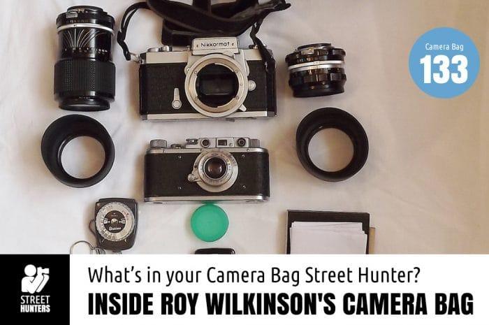 Inside Roy Wilkinson's Camera bag