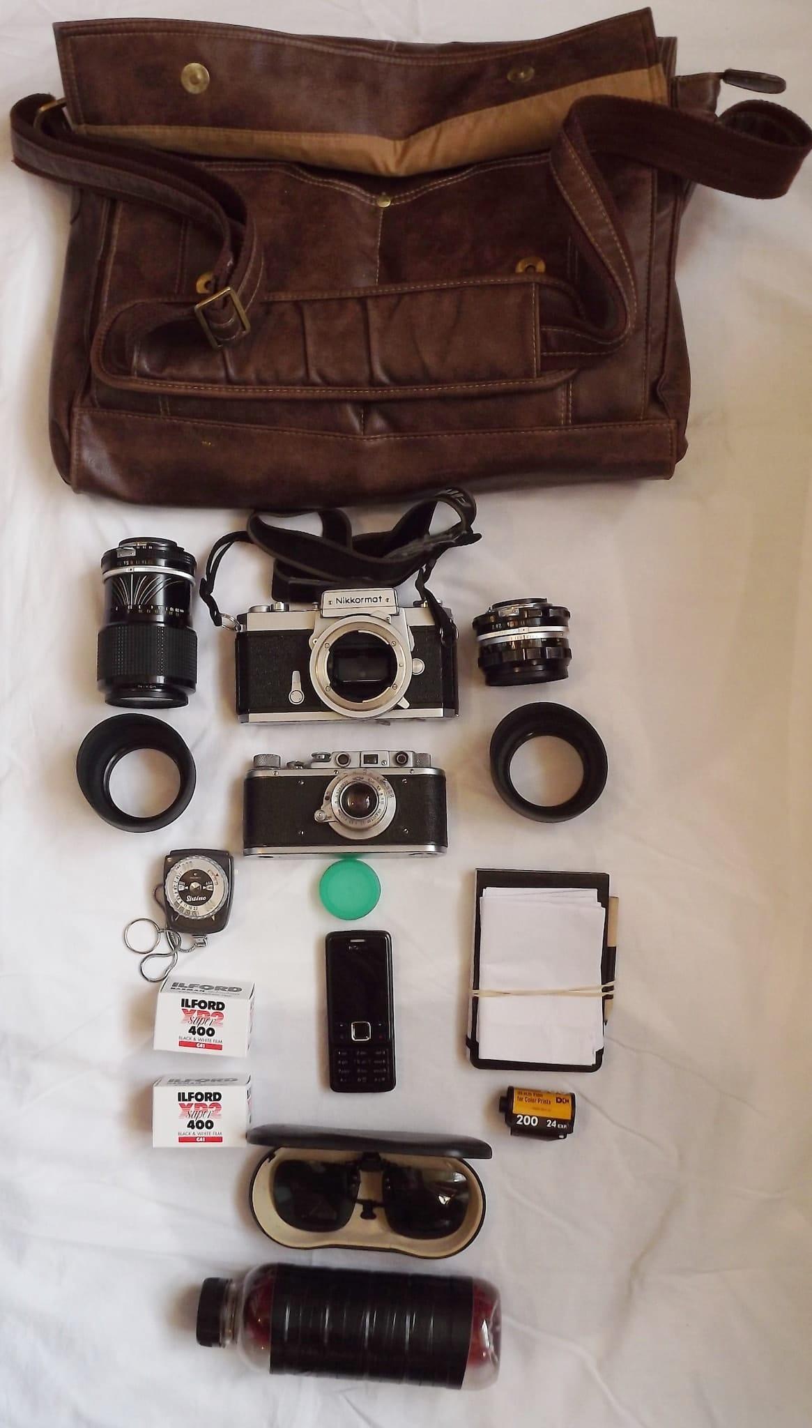 Roy Wilkinson's Camera bag