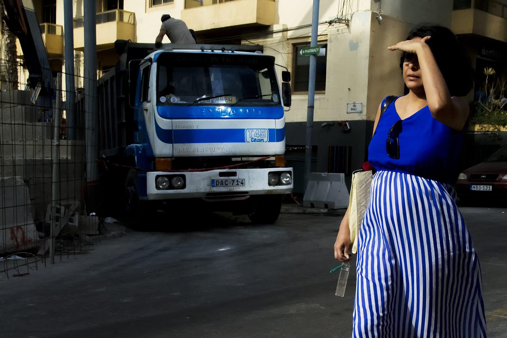 """The Colour Blue"" street photograph by David Mar QUinto"