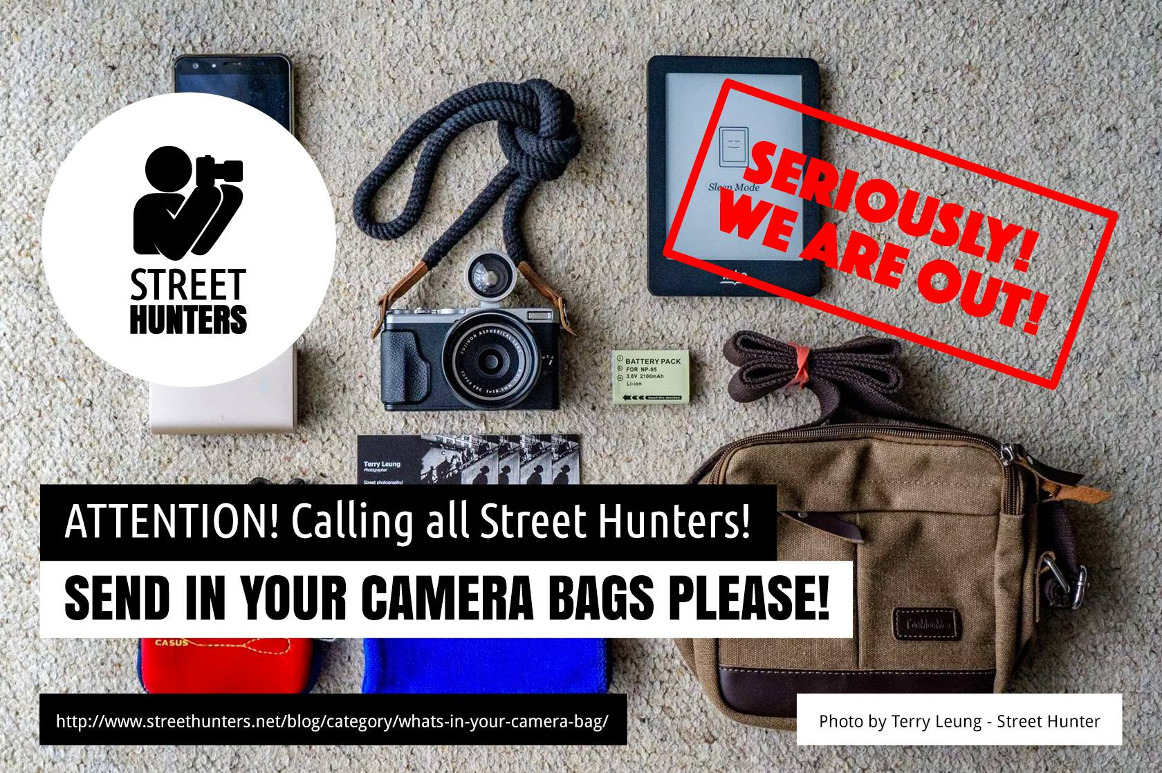 Request for new street photography camera bags