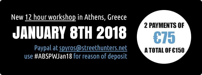 ABSPWAJan18 Street Photography Workshop Payments