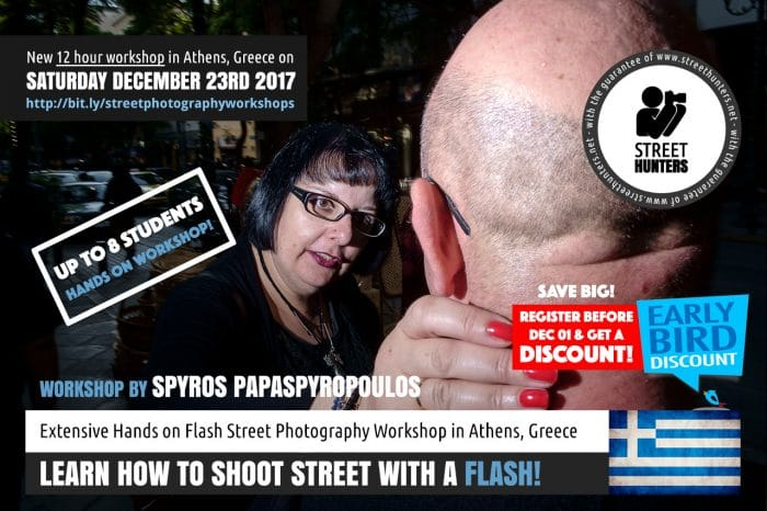 Flash Street Photography Workshop by Spyros Papaspyropoulos on 23rd December in Athens, Greece