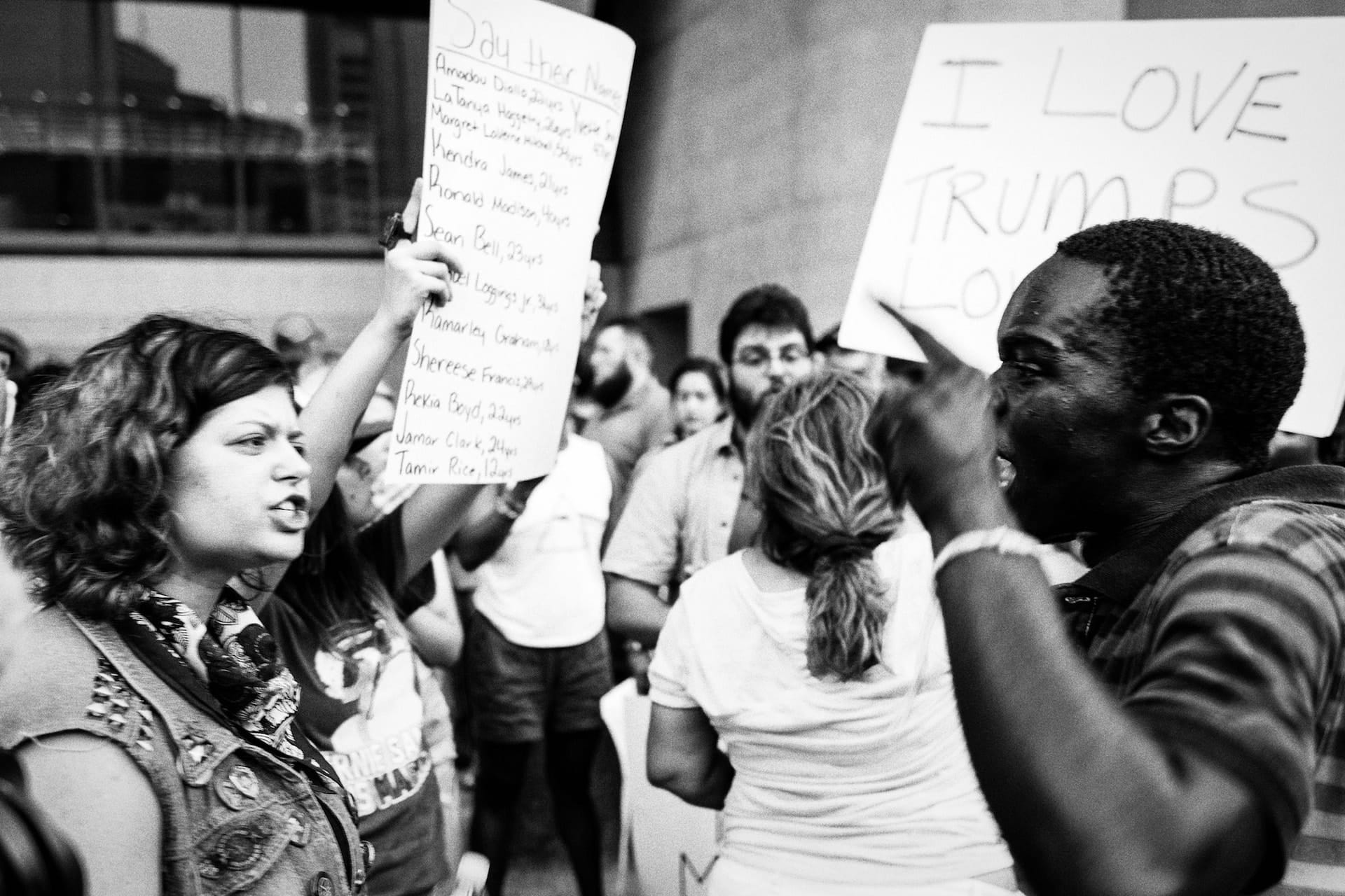 """""""Hatred"""" street photograph by Taylor Green"""
