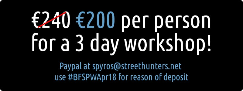 Flash Street Photography Workshop in Bucharest cost
