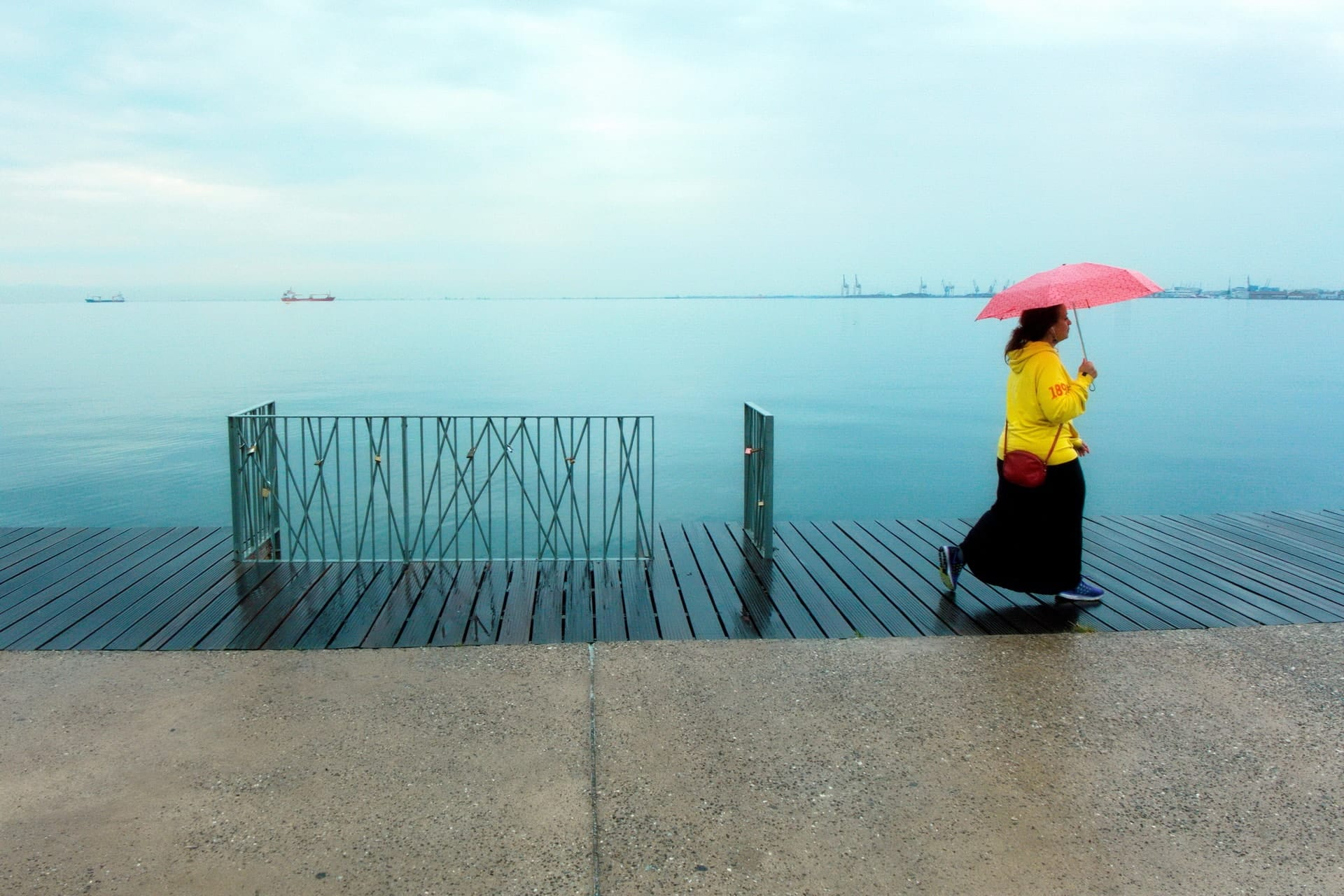 """Rainy day"" Street Photograph by Makis Makris"