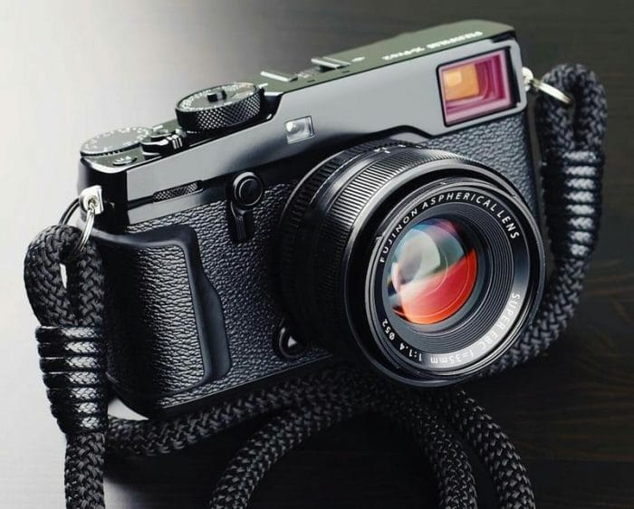 Hyperion Camera Straps - Black with Black on X-Pro1