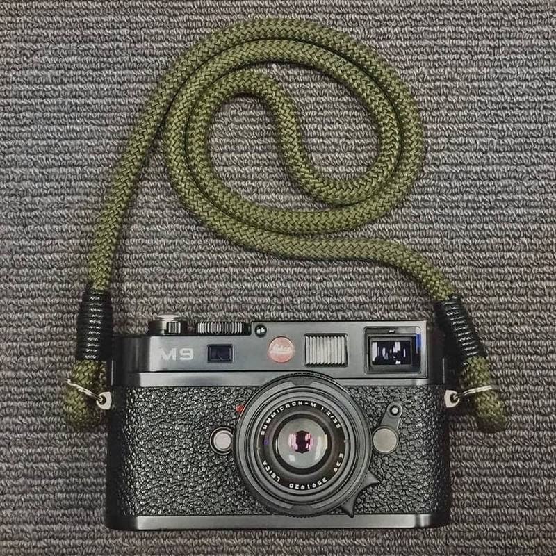 Hyperion Camera Straps - Olive Green on M9