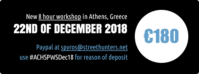 Street Photography Workshop Athens Greece December 2018