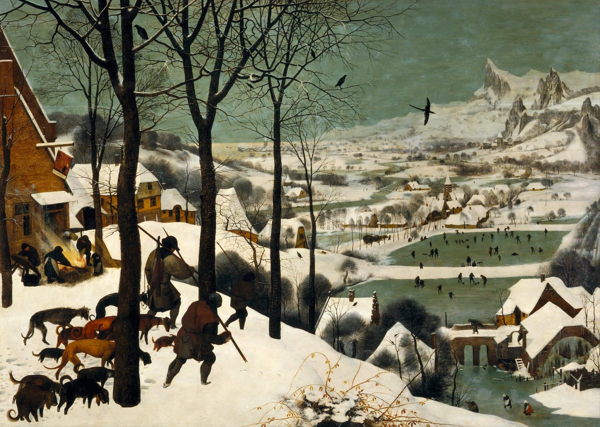 """""""Hunters in the Snow,"""" Pieter Brueghel the Elder"""