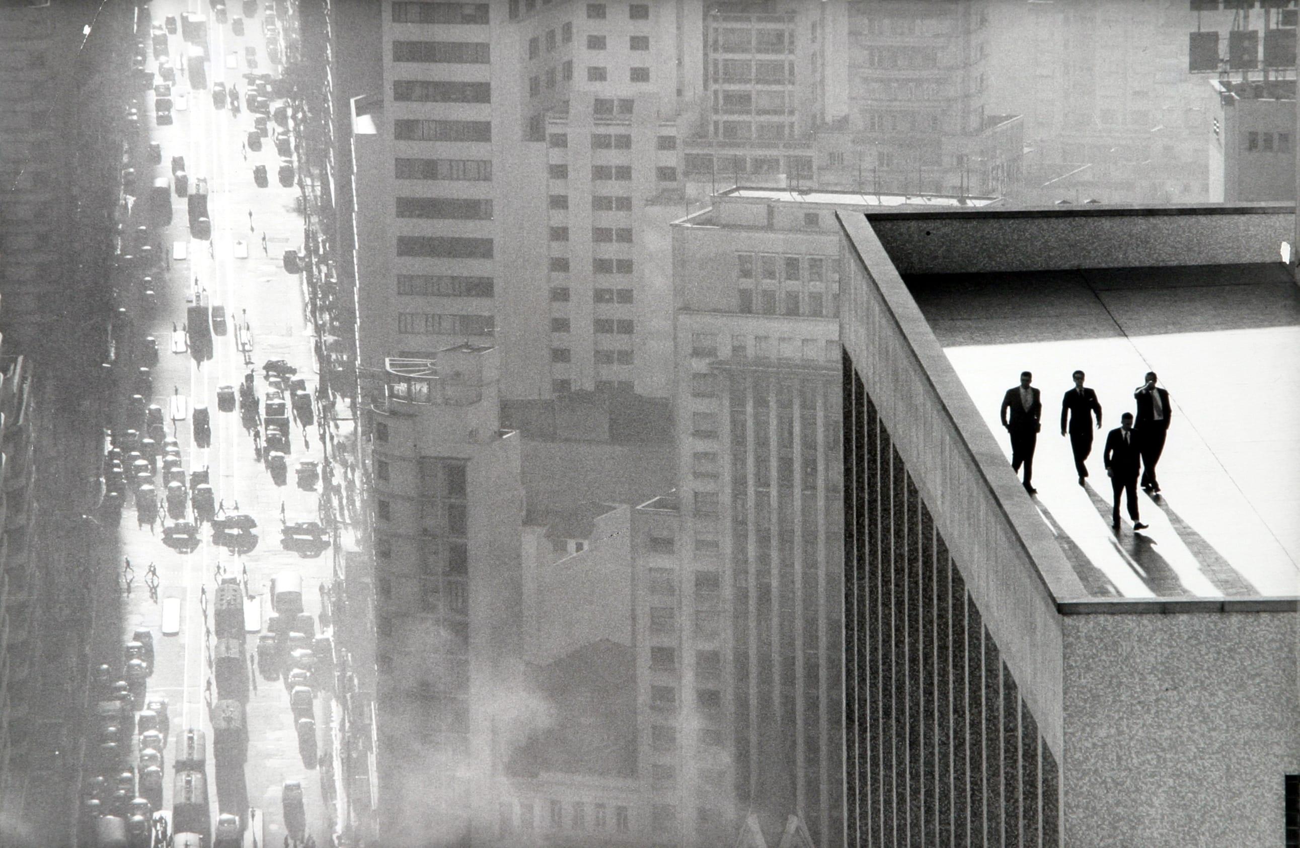 Men on a Rooftop by René Burri