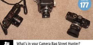Inside Neville Newman's camera bag - Bag No.177